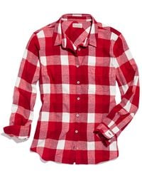 Madewell Checked Flannel Boyshirt - Lyst