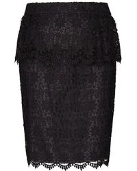 Mango Lace Peplum Skirt - Lyst