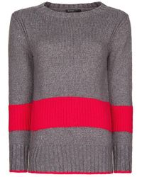 Mango Contrast Block Sweater - Lyst