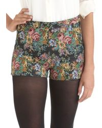 ModCloth Tapestres Chic Shorts - Lyst