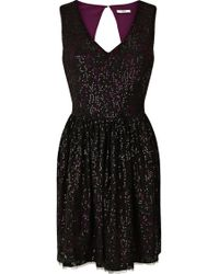 Oasis Lace Sequin Dress - Lyst
