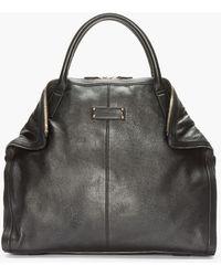 Alexander McQueen - Black Dogeared City Handbag - Lyst