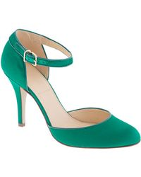 J.Crew Ava Satin Pumps - Lyst