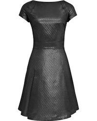 Reiss Reiss Mara Fit and Flare Dress Graphite - Lyst