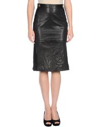 Diane Von Furstenberg Leather Skirt - Lyst