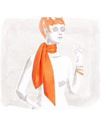 Hermès Quadrige Scarf orange - Lyst