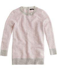 J.Crew Collection Cashmere Herringbone Sweater - Lyst