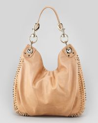 Rebecca Minkoff Luscious Mini Studded Hobo Bag - Lyst
