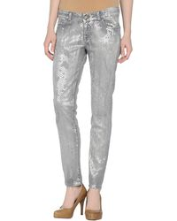 Guess Denim Trousers - Lyst