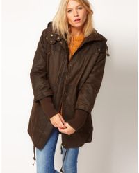 ASOS Collection Asos Waxed Oversized Parka - Lyst