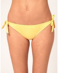 Asos Asos Tie Side Bikini Pant - Lyst