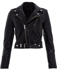 BLK DNM Black Cropped Leather Jacket 1 - Lyst