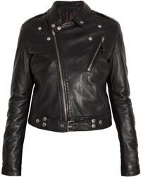 BLK DNM Leather Motorcycle Jacket - Lyst