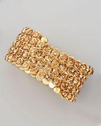 Cara - Crystal Spiral Bracelet - Lyst
