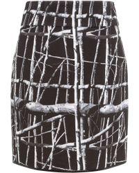 Commuun   Black Tree Print Skirt   Lyst