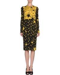Dolce & Gabbana Knee- Length Dress yellow - Lyst