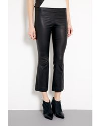 Elizabeth And James Allen Stretch Leather Kick Trousers - Lyst