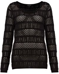 Episode Open Crew Neck Knit Jumper - Lyst