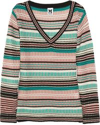 M Missoni Striped Woolblend Sweater - Lyst