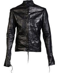 Ma+ - Wrinkled Leather Jacket - Lyst