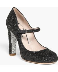 Miu Miu Glitter Mary Jane Pump - Lyst