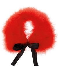 Miu Miu Feather Collar red - Lyst