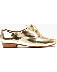 Nasty Gal Uniform Metallic Oxford - Lyst