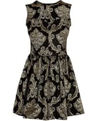 Oasis Baroque Jacquard Dress - Lyst