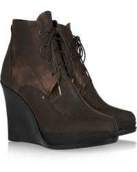 Rag & Bone Dolgan Leather Wedge Ankle Boots - Lyst