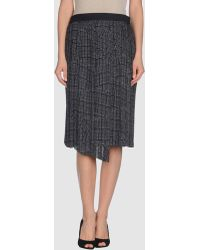 Rag & Bone Knee Length Skirt black - Lyst