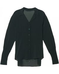Theyskens' Theory Franky Long Sleeve Blouse - Lyst