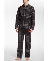 Burberry London Pajama Set gray - Lyst