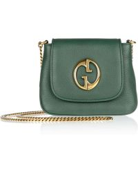 Gucci Small Texturedleather Shoulder Bag - Lyst