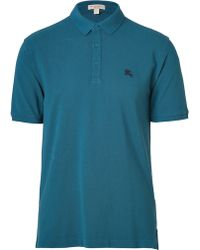 1a9e81251 Burberry Brit - Pale Petrol Blue Short Sleeve Wheeler Polo Shirt - Lyst