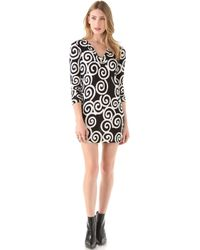 Diane von Furstenberg Long Sleeve Reina Dress - Lyst