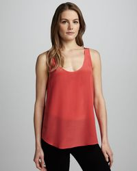 French Connection Relaxed Silk Tank - Lyst