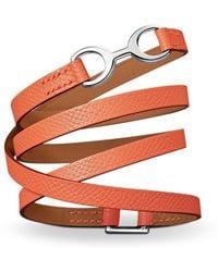 Hermès Dandy Pavane Bracelet orange - Lyst