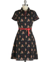 ModCloth Owl in Good Time Dress - Lyst