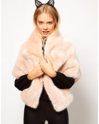 ASOS Collection Asos Premium Fur Stole - Lyst