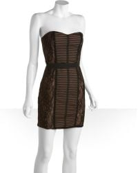 BCBGMAXAZRIA Stretch Layered Chantilly Lace Janna Strapless Dress black - Lyst