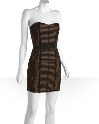 BCBGMAXAZRIA Stretch Layered Chantilly Lace Janna Strapless Dress - Lyst