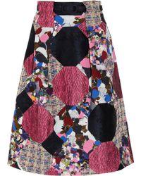 Erdem Hester Patchwork Skirt multicolor - Lyst