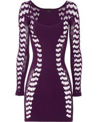 Faster Mark Fast - Ballet Cutout Stretch Jersey Dress - Lyst