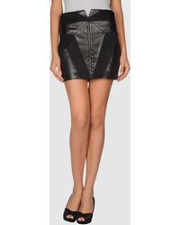 Jen Kao Leather Skirt - Lyst