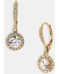 Nadri Cubic Zirconia Drop Earrings gold - Lyst