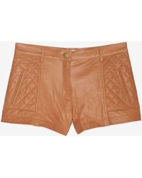 Thakoon Addition - Diamond Quilted Leather Shorts  - Lyst