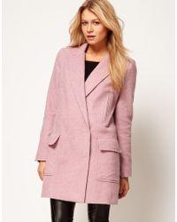 ASOS Collection Asos Longline Blazer pink - Lyst