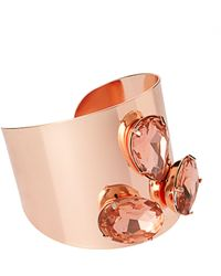 Asos Three Stone Colour Plate Cuff pink - Lyst