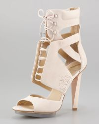 B Brian Atwood Sporty Lace-up Leather Sandal - Lyst