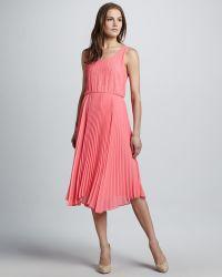 Alice + Olivia Pleated Dress - Lyst